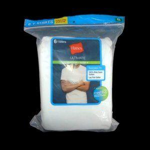 Mens 6pk Hanes Ultimate Comfort Soft T-Shirts XL